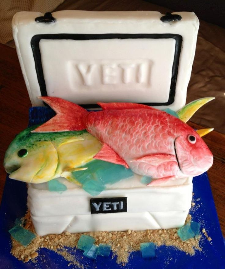 groom cake fish yeti